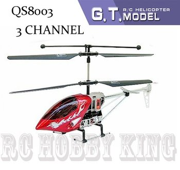 QS8003 38cm 3 Channel 3ch QS 8003 RC Helicopter RTF with LED Lights gyro(3.5ch) model radio remote control Free shipping wholes