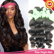 yvonne hair eurasian loose wave 100% unprocessed wet and wavy hair extension human hair weave cheap genesis virgin hair(China (Mainland))