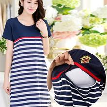 Del algodón del verano vestidos maternidad de enfermería de mama ropa para mujeres embarazadas maternidad gesta embarazo lactancia ropa(China (Mainland))