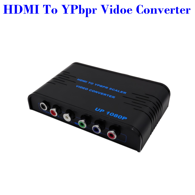 High Quality HDMI to Component YPbPr + R/L Audio Converter V1.3 1080P HDMI Video Audio Converter(China (Mainland))