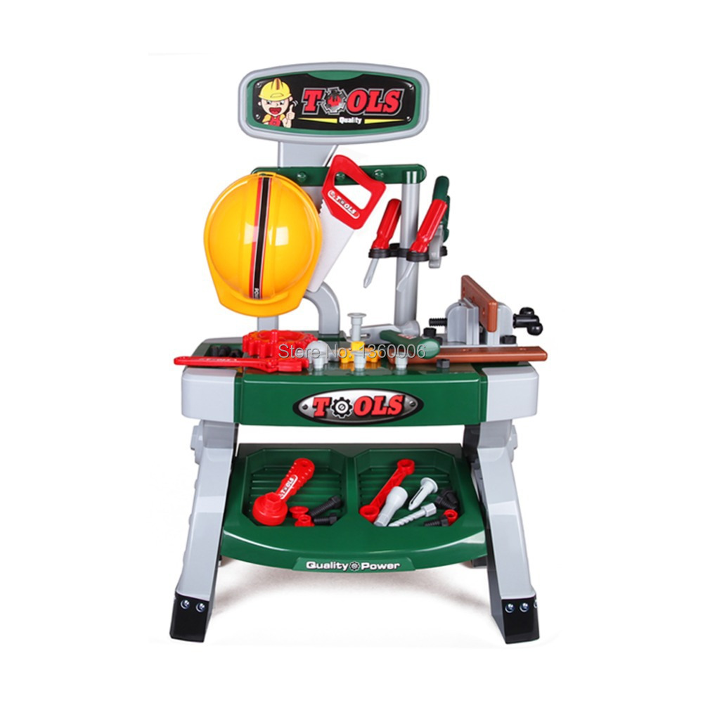 Play Toys For Boys : Children pretend play boys tool desk baby toys as gifts