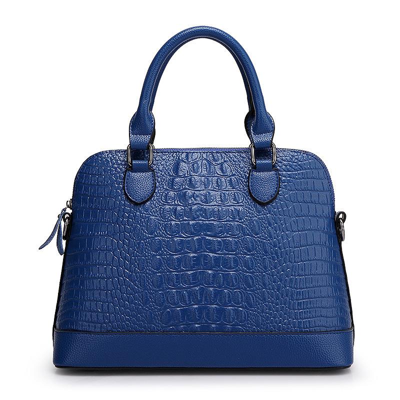 Women handbag crocodile lady real genuine leather tote female single shoulder bags crossboday bag bolsa feminina bolso mujer - Happy resources store