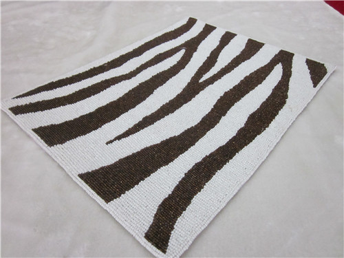 New arrival black and white stripe placemat luxury quality square paper doilies kitchen accessories(China (Mainland))
