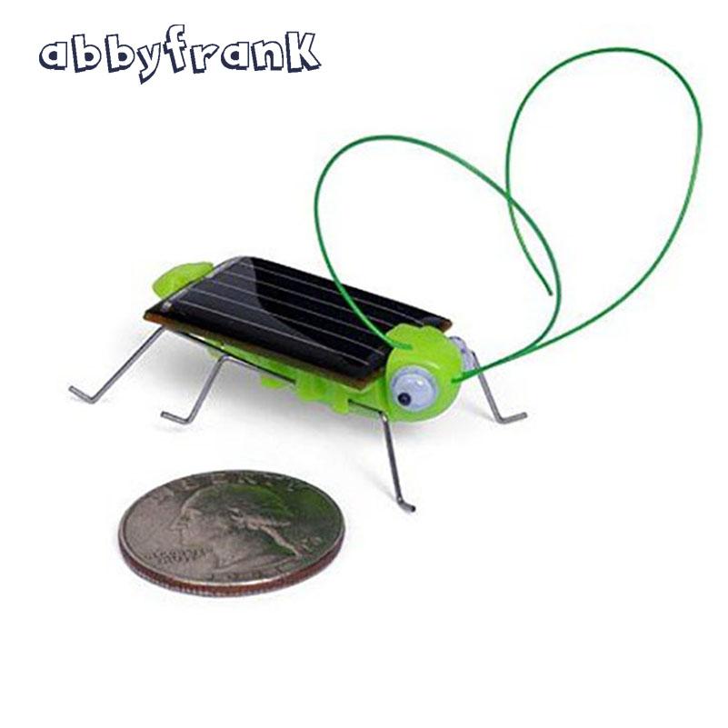 Abbyfrank Grasshopper Solar Toys Cricket Insect Kids Mini Green Solar Power Toys Tiny Robots Novelty & Gags Toy Outside(China (Mainland))