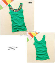 2016 Hot Sale! Women's Maternity Tank Colorful Beading O-Neck Slim Candy Color Vest Female Strap Tank Top 7 Colors pregnant(China (Mainland))