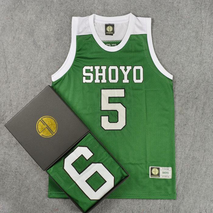 SLAM DUNK Cosplay Costume Shoyo School Team Basketball Uniform #5 Hanagata Replica Jersey Tops Shirt Men Sports Wear M L XL XXL(China (Mainland))