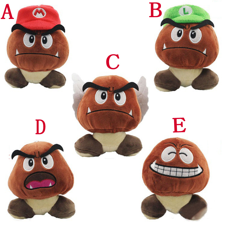 50pcs/lot Super Mario Goomba Plush Doll 13cm Goomba Soft Stuffed Plush Toys Doll With Tag Kids Birthday Gift EMS Free Shipping<br><br>Aliexpress