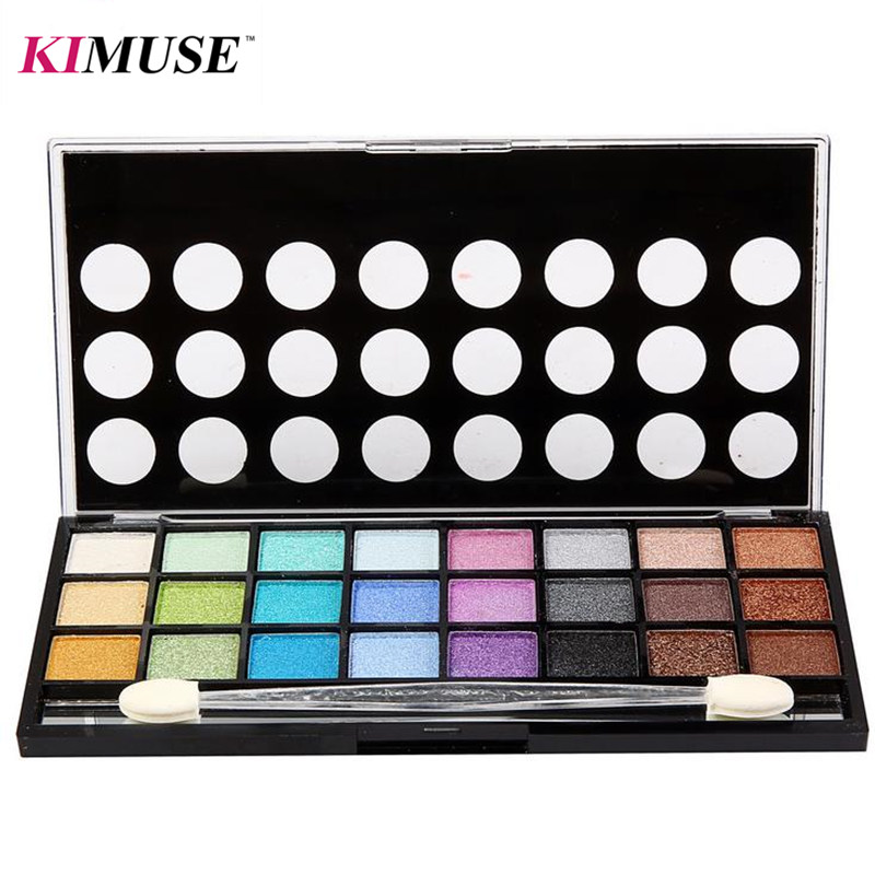 KIMUSE 24 Colors Eye Shadow Pear & Matte Naked Palette Quality 4 Series Practical Makeup Eyeshadow Palette With Eye Pencil(China (Mainland))