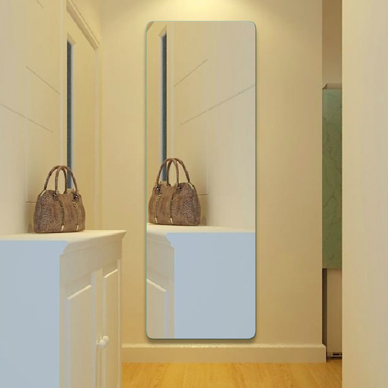 Ultra clear glass mirror square dressing wall mirror for Espejos de pared sin marco