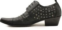 British Style Brand Men's Oxfords Shoes Mens Dress Business Flats Leather Lace-up Rhinestone Oxfoed shoes size 38-46 - Luxury Spikes Show store