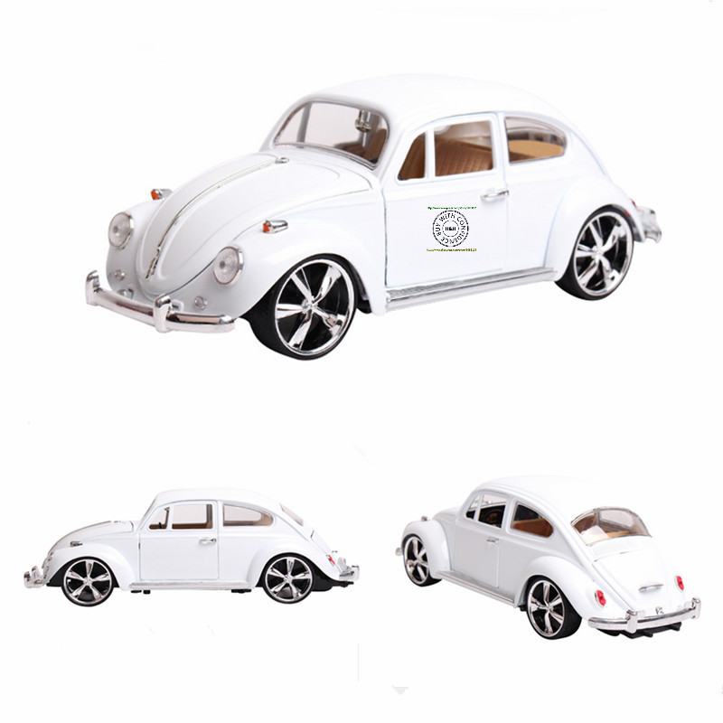 4color Hot sale 1:18 Volkswagen Beetle Beatles MZ Retro classic cars Alloy car models toy Gifts for boys Collectables Decoration(China (Mainland))