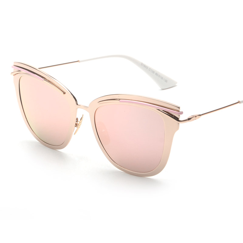 Gold Coloured Glasses Frames : Contain Rose Gold!2016 New Retro Alloy Cat Eye Sunglasses ...