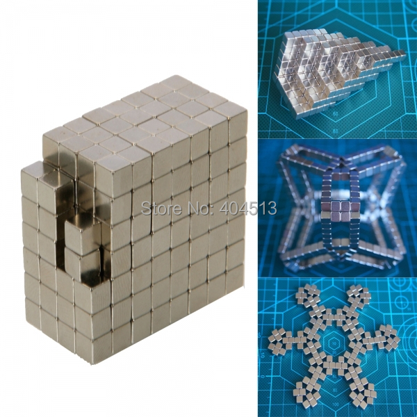 4mm 216pcs Silver Magic Cube Magnetic Squares Neocube Neodymium Magnet Cube DIY Sphere Puzzle Cube for Buckyballs Free Shipping(China (Mainland))