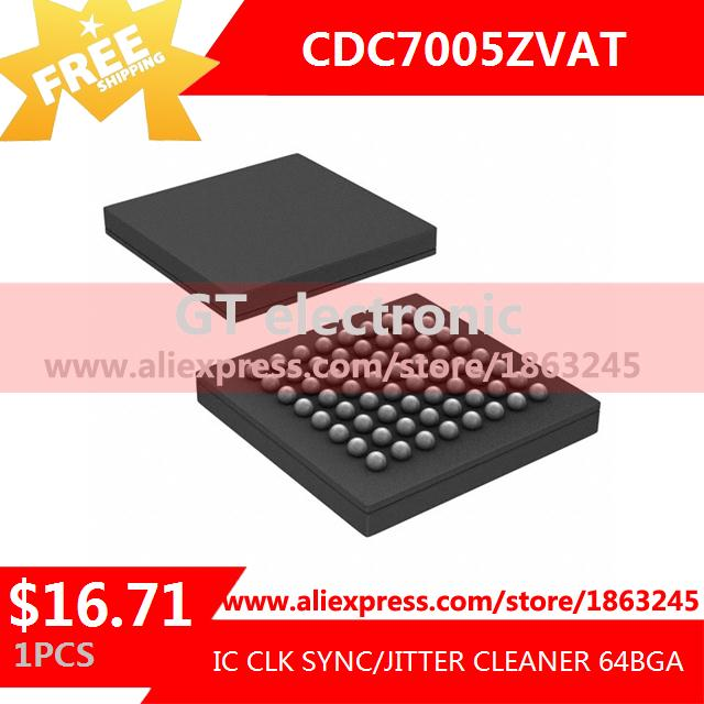 Free Shipping Electronic Parts CDC7005ZVAT IC CLK SYNC/JITTER CLEANER 64BGA 7005 CDC7005 1pcs(China (Mainland))