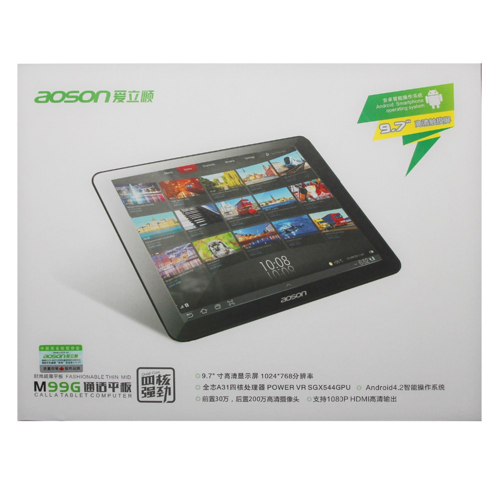 Hot Sale 9 7 inch 3G Phone Call Tablet Aoson M99G Quad Core Allwinner A31S Dual