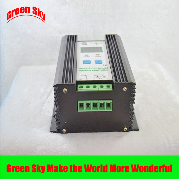 CE&RoHS Certificate Intelligent LCD Display 24V 200W mppt charge wind solar hybrid controller(China (Mainland))