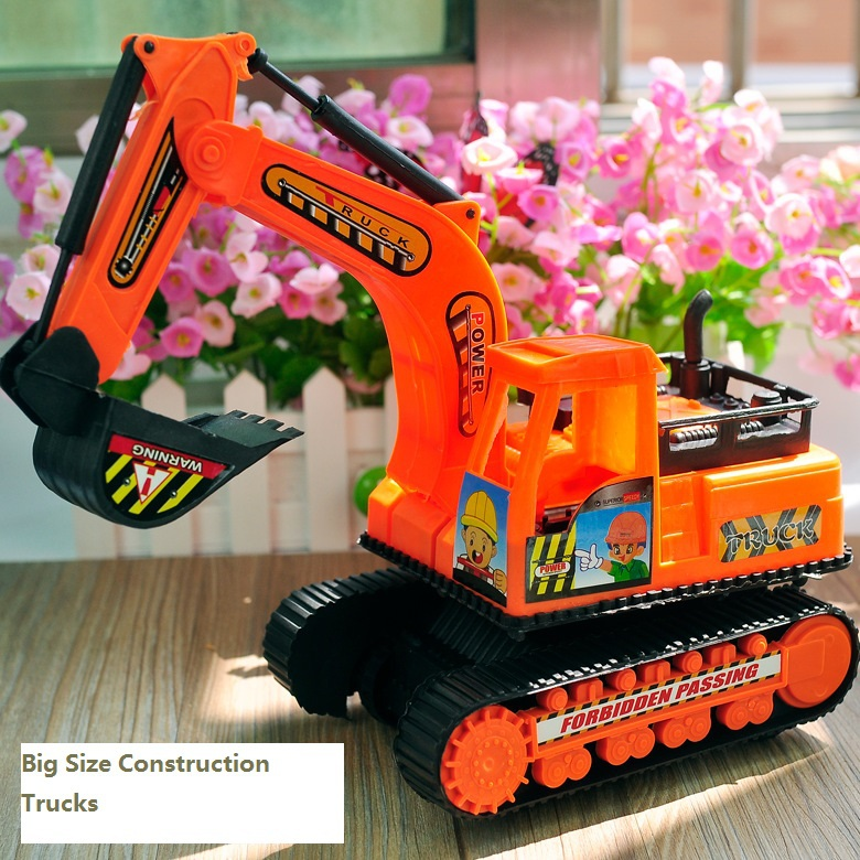 Big Size 36.5*27cm Toy Truck Models Toys Construction Excavator For Kids Children Play Gift(China (Mainland))