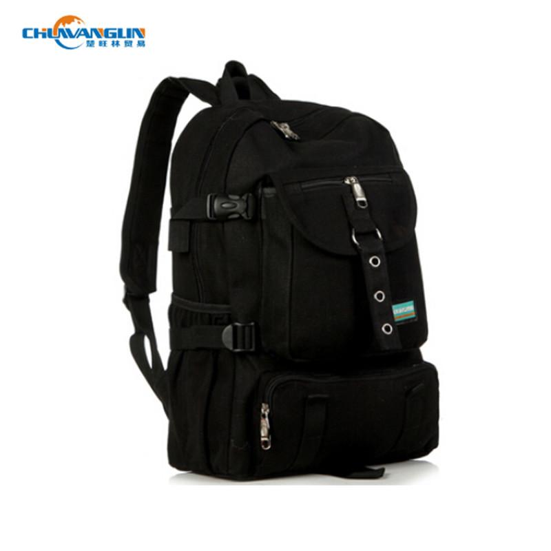 Гаджет  MY7081 Men Women Preppy Style Canvas Backpack Large Capacity Solid Zipper Mochila School Backpacks For BoysTravel Bags Bolsa None Камера и Сумки
