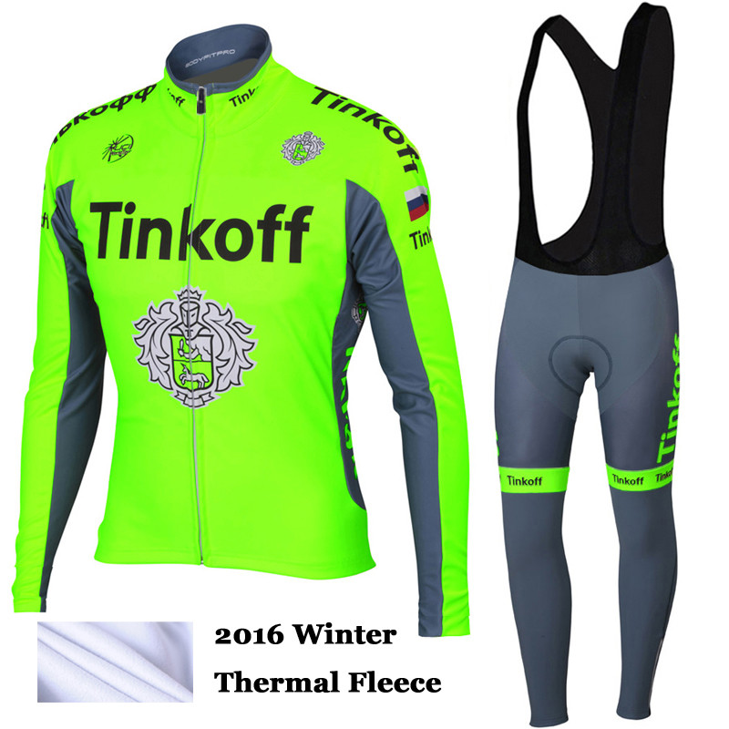 2016 New Arrival Saxo Bank Tinkoff Cycling Jersey Winter Clothing Thermal Fleece Long Mtb Ropa Ciclismo Hombre Black/White<br><br>Aliexpress