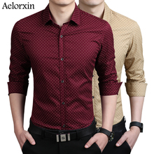 2016 shirt casual shirt men shirt brand-clothing male clothes Fashion printed long-sleeved shirt Korean Slim lapel cotton