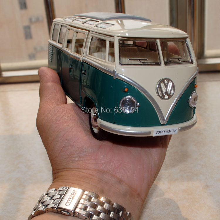 Free Shipping Diecast Car Model Toys 1962 Volkswangen Classic Bus Green Metal Car Model Toy For Collection/Gift/Children(China (Mainland))
