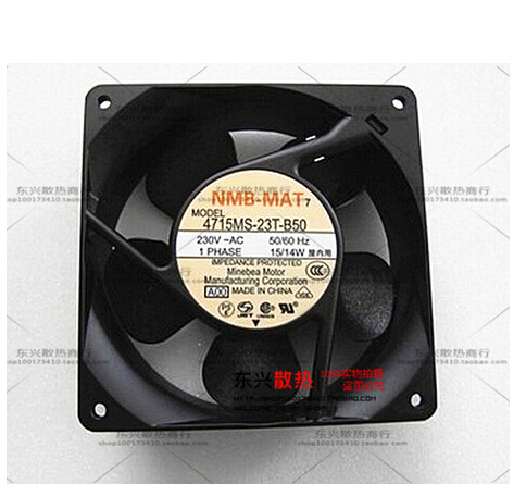 Free Shipping For NMB 4715MS-23T-B5A A00 AC 230V 15W 2-pin 120x120x38mm Server Square Cooling fan(China (Mainland))