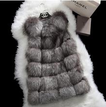 New Winter Genuine Fox Fur Vest Women's Full Pelt Gilet Warm Luxury Natural Fox Fur Waistcoat(China (Mainland))