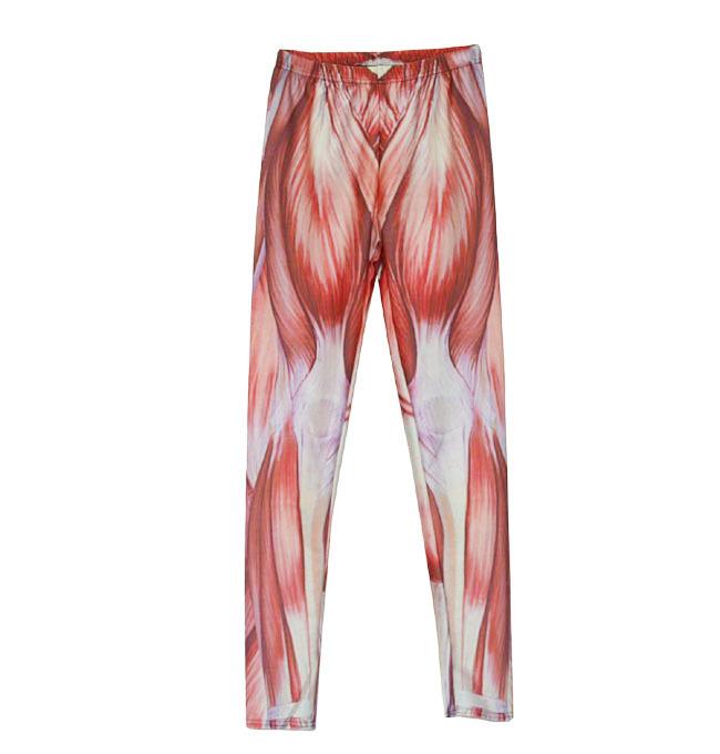 2017 Hot New Europe and the explosion of female Leggings sexy muscle PANTS LEGGINGS nine Pants digital printing Capris Gaiters