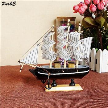 New fashion wooden sailing boat model office ornaments home decoration plain sailing(China (Mainland))