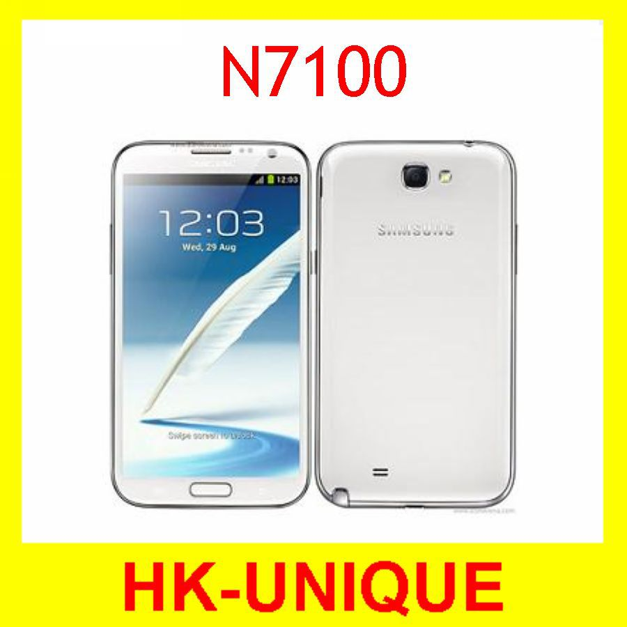 N7100 Unlocked Original Mobile Phone Samsung Galaxy note II N7100 Android 4.1 8MP 2GB RAM 16GB ROM Camera QuadCore free shipping(China (Mainland))