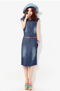 New Fashion Denim Vintage Cute Dress Summer Autumn High Street Active Women's Casual Party Stylish Women Dresses