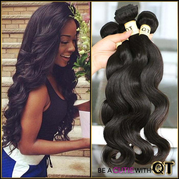 7A Grade Brazilian Virgin Hair Body Wave 3 Bundles Queen Hair Products Brazilian Body Wave Unprocessed Human Hair Weave 100g/Pcs(China (Mainland))