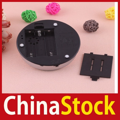 [China Stock] Unique Small Round Rotating Crystal Display Base Stand Holder 5 LED Light #2 New wholesale(China (Mainland))