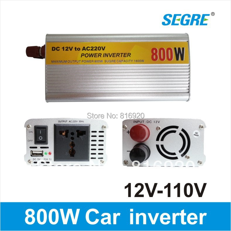 Cheap High Quality 800w 12v 110v car power inverter charger Free Shipping.(China (Mainland))