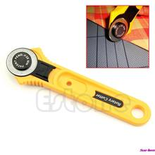 28mm Circular Cut Yellow Rotary Cutter Blade Patchwork Fabric Leather Craft Free Shipping