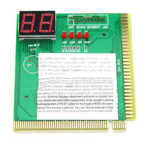 Free shipping PC PCI/ISA MB Diagnostic Card Analyzer Tester POST New(China (Mainland))