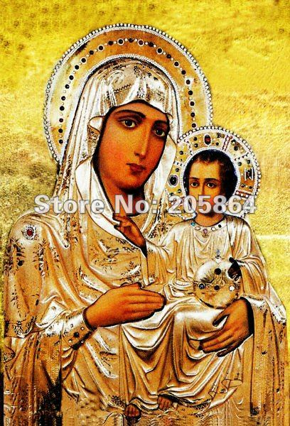 Free shipping small size craft tapestry,religion style fabric decor picture,wall hinging,Virgin Mary with the Son(China (Mainland))