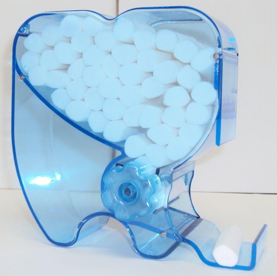 Hot Sale 4pcs New Dental Blue Color Cotton Roll Dispenser Molar Shaped(China (Mainland))