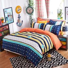 3pcs/4pcs bedding set bedding housse de couette AB side bed sheet duvet cover set bed linen flower fruit stripe fashion bed set