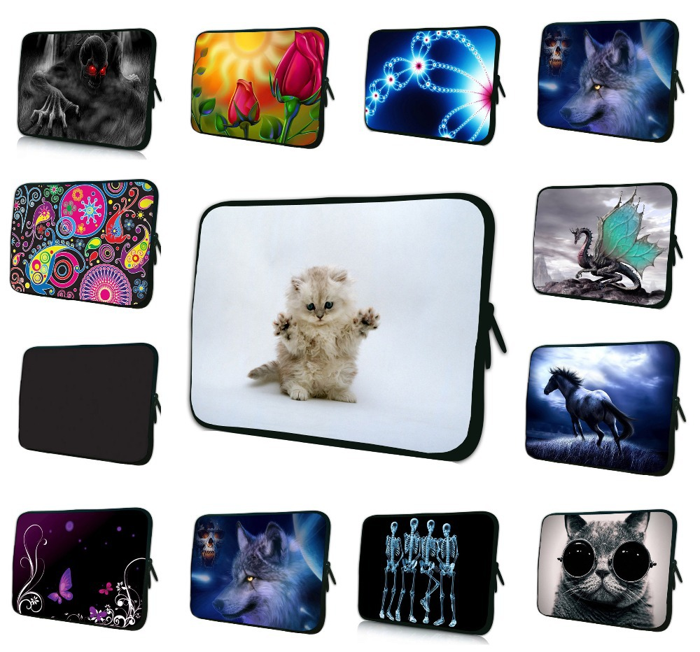 """Neoprene Laptop Sleeve Case Cover For 7 8 10 12 13 15 17 17.3 inch 14.1"""" Notebook Netbook Mini PC Capa Para Notebook 15.6 13.3(China (Mainland))"""
