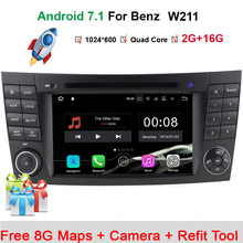 Buy Stock Quad Core 1024*600 Touch Screen Car DVD Player mercedes w211 Android 7.1 W209 W219 3G WIFI Radio Stereo GPS 3G for $292.69 in AliExpress store