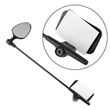 Bike Bicycle Cycling Helmet Handlebar Rearview Rear View Road Vision Reflector Mirror Glass Safety 24cm Black(China (Mainland))