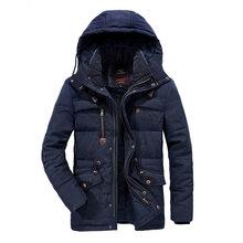 XIYOUNIAO プラスサイズ L 〜 7XL 8XL 冬ジャケット厚く暖かい男性取り外し可能なウインドブレーカーフード付き貨物マルチポケット男性パーカーコート(China)