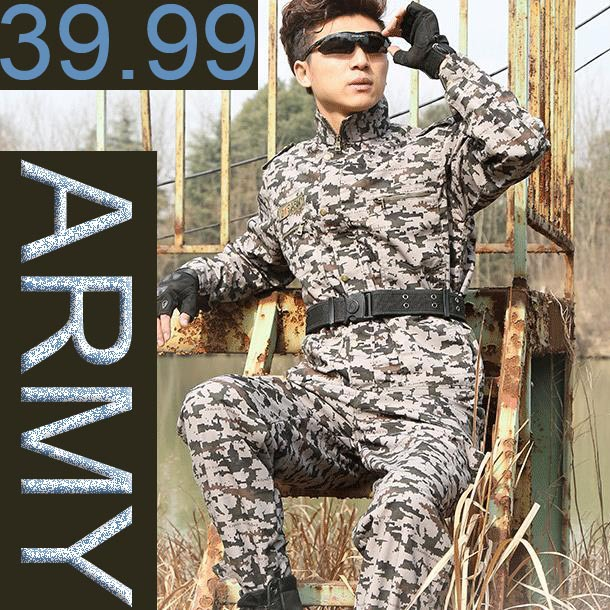 2015 new men clothes camouflage army suit ropa tactica militar hombre italian military uniform male tactical clothing german 021 - Aimee store