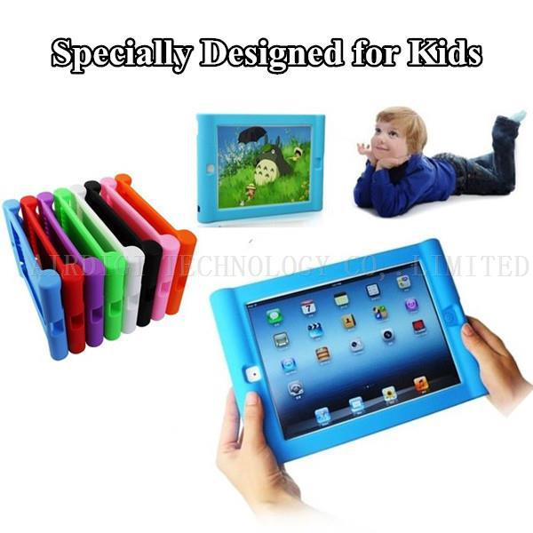 Protective Shockproof Silicone Case For iPad Mini 1/2/3 Drop Proof Case Cover For Home Childred Kids with Free Shipping(China (Mainland))