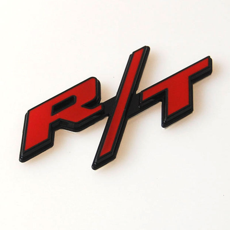 New Auto Car Metal Alloy Red R/T RT Emblem Badge Decal Sticker Fit for Dodge Challenger Charger(China (Mainland))