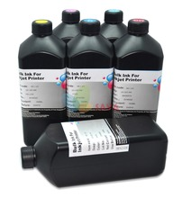 6 Liters C/M/Y/K/LC/LM UV curable ink Compatible for Epson LED UV Printer for 3D printing