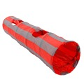 Pawz Road Fast Shipping Pet Tunnel Cat Play Tunnel Red Gray Foldable 2 Holes Crinkle Sound