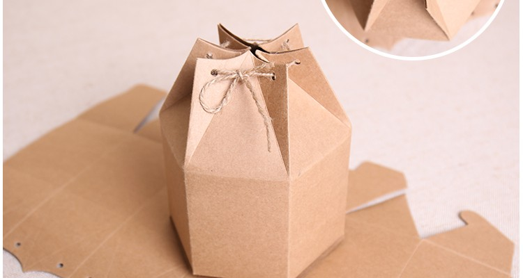 20pcs Free shipping custom printing box sweet gift packing boxes nature craft paper bag with string homemade candy cakes 9*11cm(China (Mainland))
