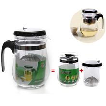 Newest Hot Sale Heat Resistant Glass Tea pot 500ml Flower Tea set Puer Teapot Coffee Pot